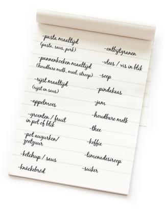 Boodschappenlijstje